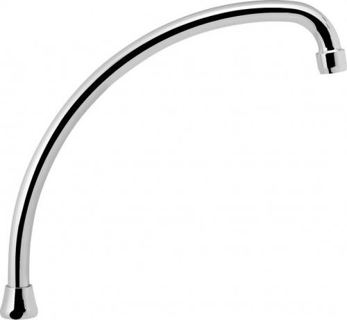 Aqualine Výtoková hubice tvar J, prům. 18mm, L 284mm, 3/4', chrom 15J250