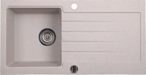 Sapho Dřez granitový vestavný s odkapávací plochou, 86x43, 5 cm, béžová GR1602