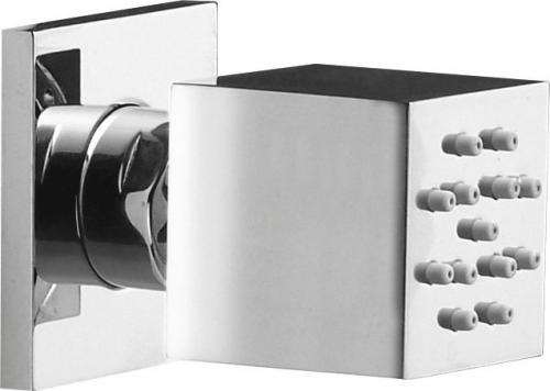 Sapho Nástěnná sprška s otočným kloubem, 35x35mm, chrom SLQp