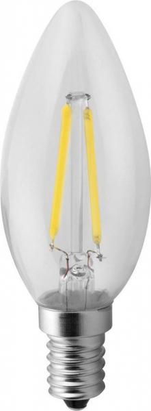 Sapho Led LED žárovka Filament 2W, E14, 230V, denní bílá, 160lm LDF142