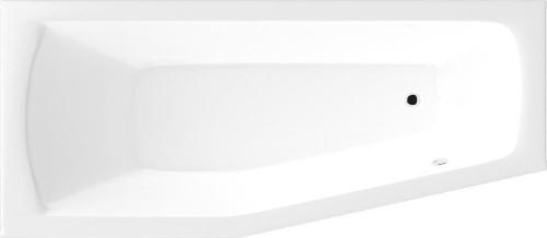 Aqualine OPAVA vana 160x70x39cm bez nožiček, levá, bílá C1670