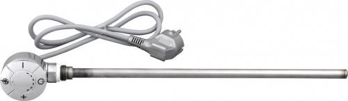 Aqualine Elektrická topná tyč s termostatem, rovný kabel, 600 W, chrom LT67446