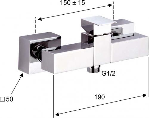 Sapho LATUS nástěnná sprchová baterie, chrom 1102-11