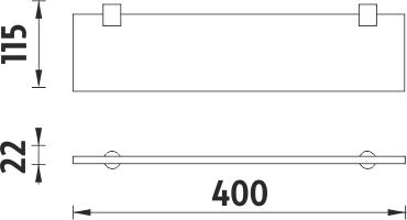 Nimco Bormo Police bez ohrádky, 40 cm BR 11091B-40-26