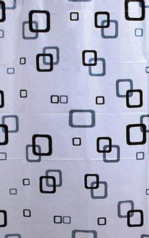 Aqualine Sprchový závěs 180x180cm, vinyl, bílá/modrá/černá ZV010