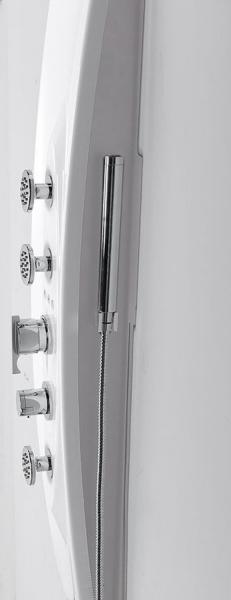 Polysan MOLA termostatický sprchový panel 210x1300mm, rohový 80372