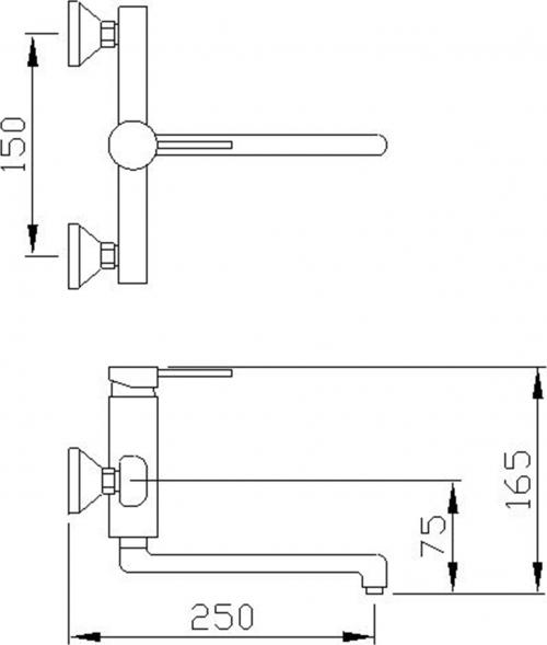 Sapho RHAPSODY nástěnná baterie, chrom 5506