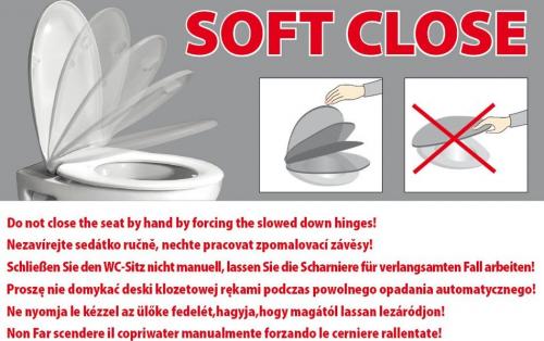 Kerasan RETRO WC sedátko Soft Close, duroplast, bílá/chrom 108901