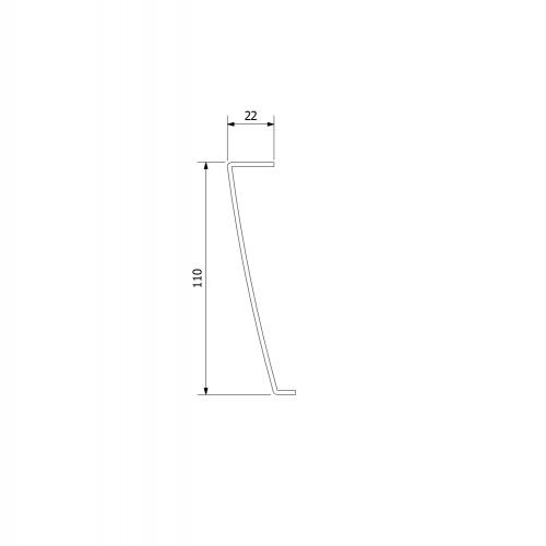 Polysan KARIA 110x90 rohový panel, výška 11 cm, levý 59312L