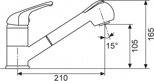 Sinks CAPRI 4 S Metalblack AVCA4SGR74