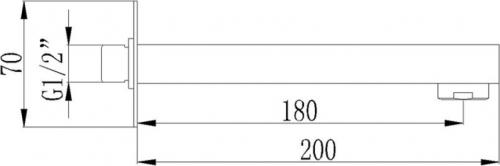 Sapho Výtoková hubice nástěnná, hranatá 1102-49