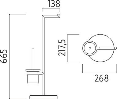 Nimco Unix Stojánkový WC set UN 13095C-26