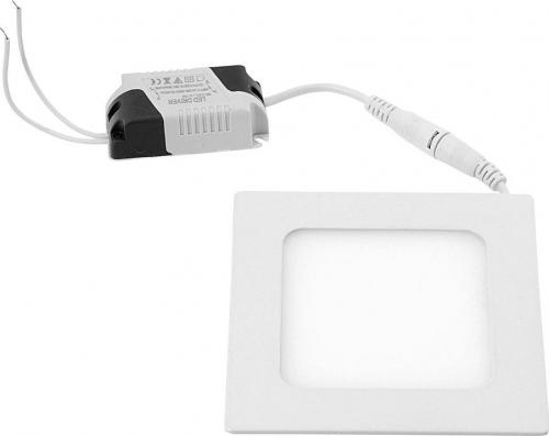Sapho START LED podhledové svítidlo, 6W, 230V, 120x120mm, denní bílá, 430lm, bílá LDD373