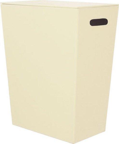 Sapho ECO PELLE koš na prádlo 47x60x30cm, krémová 2463CR