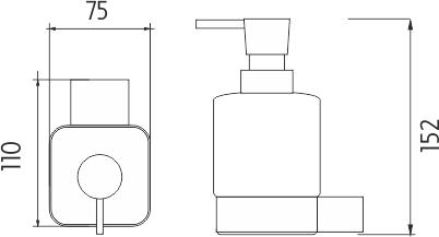 Nimco Kibo Dávkovač tekutého mýdla, pumpička plast Ki 14031C-26