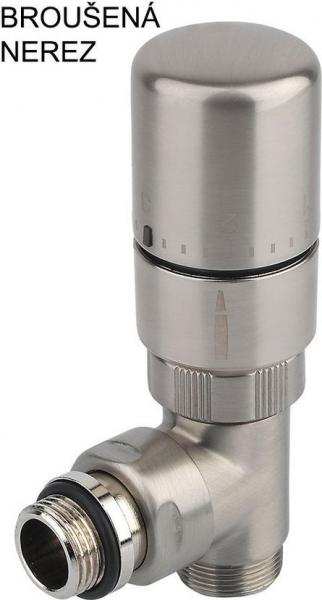 Sapho MONO ONE připojovací sada ventilů termostatická jednobodová, broušený nerez CP2550
