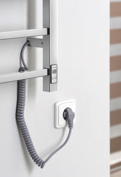 Sapho ESKINADO Elektrický sušák ručníků s časovačem, hranatý, 620x1160 mm, 120 W, nerez ER430T