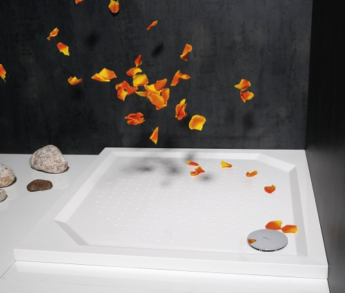 Gelco ANETA90 sprchová vanička z litého mramoru, čtverec 90x90x4cm GA009