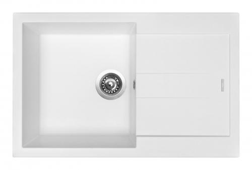 Granitový dřez Sinks AMANDA 780 Milk+MIX 3P GR TLA780M3P28