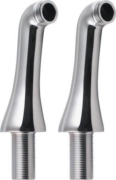Reitano Rubinetteria ANTEA připojení pro instalaci vanové baterie na okraj vany (pár), chrom 9851