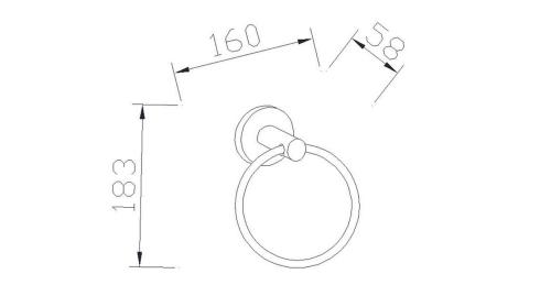 Aqualine SAMBA kruh, chrom SB106