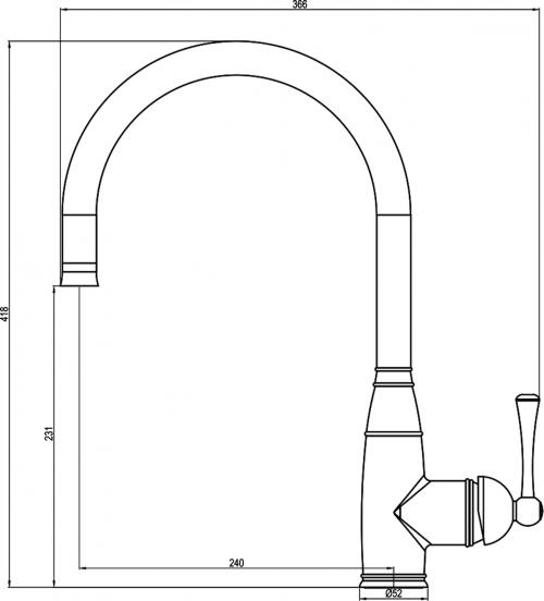 Sapho ROKO stojánková dřezová baterie, chrom 1105-67