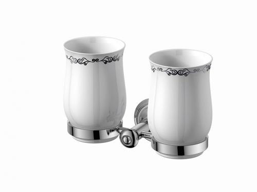 Sapho ASTOR dvojitý držák skleniček, chrom 1325-05