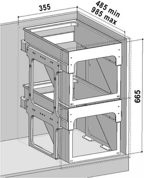 Sinks TANDEM FRONT 40 AU MP68093
