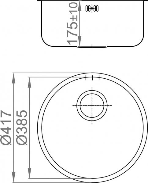 Nerezový dřez Sinks MITHUS 417 V 0,6mm leštěný MP68222