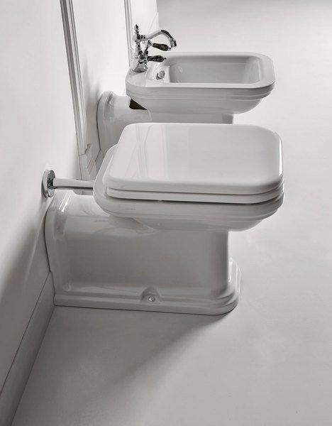 Kerasan WALDORF WC mísa stojící, 37x42x65cm, spodní/zadní odpad 411601