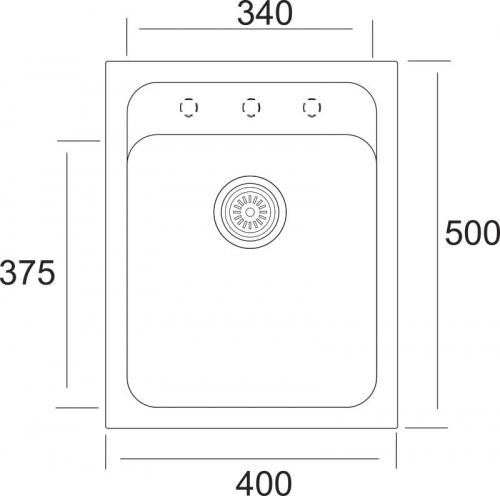 Granitový dřez Sinks CLASSIC 400 MP68275