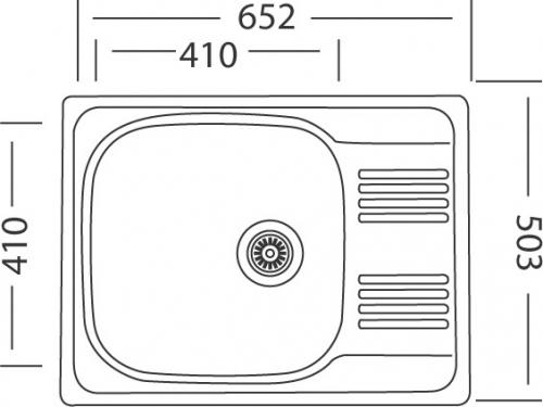 Nerezový dřez Sinks GRAND 652 V 0,8mm leštěný MP68282