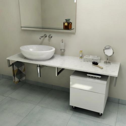 Sapho OLIVER deska 100x2x50cm, technický mramor, Calacatta OV100-1219