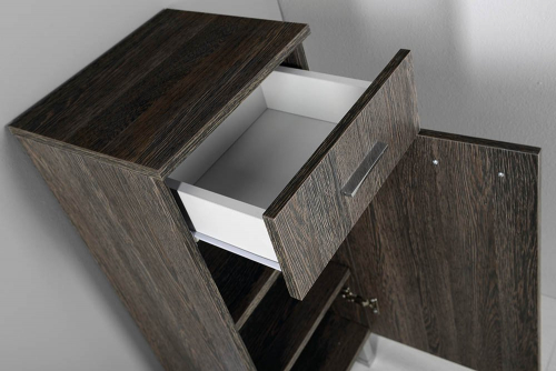 Aqualine ZOJA/KERAMIA FRESH skříňka spodní 35x78x29cm, mali wenge, pravá 51256
