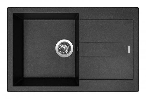 Granitový dřez Sinks AMANDA 780 Granblack+MIX 3P GR TLA780M3P30