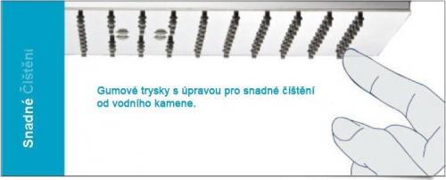 Sapho SLIM hlavová sprcha, kruh 300mm, leštěný nerez MS573