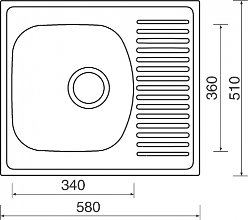 Nerezový dřez Sinks SHORT 580 MP68307
