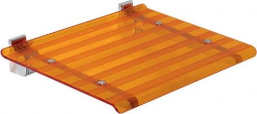 Sapho LEO sprchové sedátko 40x31cm, oranžová 5368A