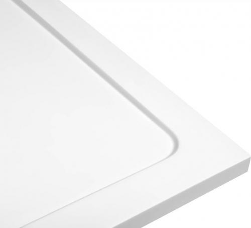 Aqualine TECMI sprchová vanička z litého mramoru, čtverec 90x90x3 cm PQ009