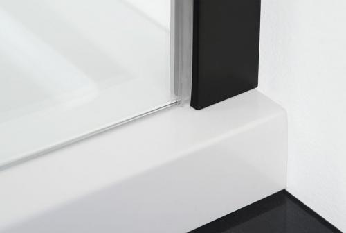 Polysan ZOOM LINE BLACK sprchové dveře 1100mm, čiré sklo ZL1311B