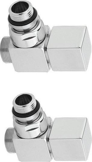 Sapho CUBE připojovací sada ventilů ruční rohová, chrom CP4010
