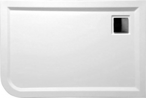 Polysan LUNETA sprchová vanička akrylátová, obdélník 100x80x4cm, pravá, bílá 52511