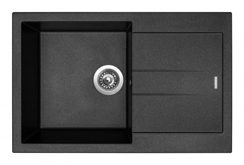 Granitový dřez Sinks AMANDA 780 Metalblack+MIX 3P GR TLA780M3P74