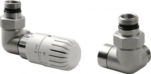 Aqualine ECO připojovací sada termostatická, levá, nikl/bílá CP9911L