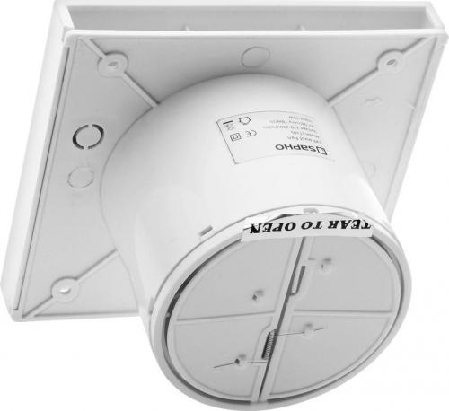 Sapho LITE koupelnový ventilátor axiální s časovačem, 15W, potrubí 100mm, nerez LT106