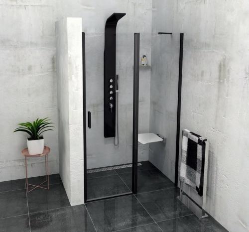Polysan ZOOM LINE BLACK sprchové dveře 1400mm, čiré sklo ZL1314B