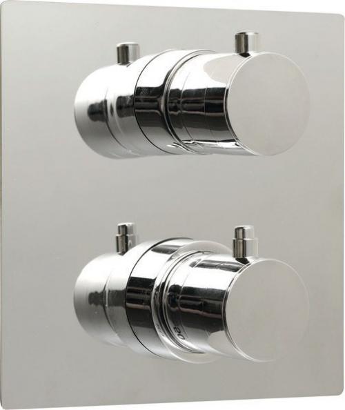 Sapho RHAPSODY podomítková sprchová termostatická baterie, hr. deska, 2 výstupy, chrom 55052