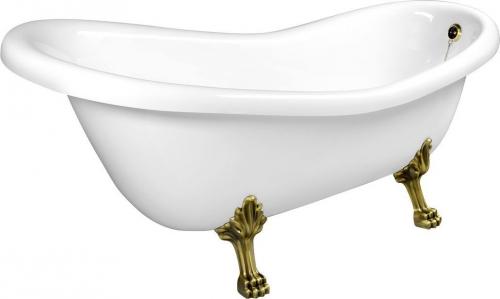 Polysan RETRO volně stojící vana 169x75x72cm, nohy bronz, bílá 42132