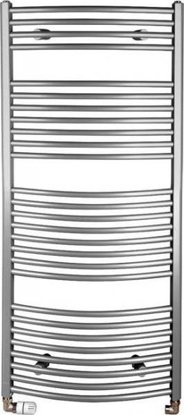 Aqualine Otopné těleso oblé 1330/600, 708 W, metalická stříbrná ILA36
