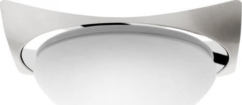 Sapho METUJE stropní LED svítidlo 26x26cm, 12W, 230V, chrom/broušený nerez AU466